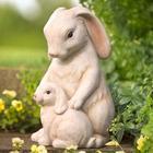 Cuddling Bunnies Garden Statue