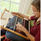 Versatile Portable Large Hardwood Lap Loom with Yarn