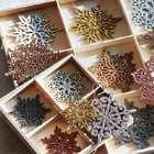 27 Shimmering Snowflake Ornaments