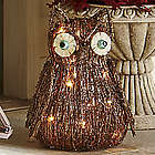 Ophelia Owl Lighted Vine Sculpture