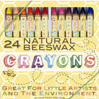 24 Natural Beeswax Crayons