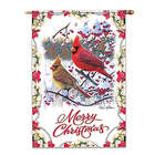 Merry Christmas Decorative Cardinal Flag
