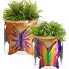 Butterfly Potted Plant Holders Set