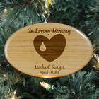 In Loving Memory Personalized Wooden Ornament