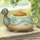 Teapot Turtle Figurine