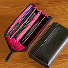 Leather Women's Fan Wallet