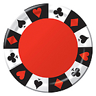 """9"""" Deluxe Card Night Party Plates"""