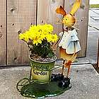 Personalized Metal Garden Bunny Planter