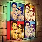 Custom Pop Art Portrait on 10x10 Light Box