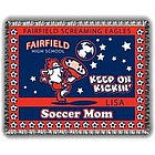 Personalized Kickin' Soccer Mom Afghan