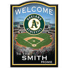 Oakland Athletics Personalized Family Welcome Sign