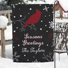 Personalized Wintertime Wishes Garden Flag