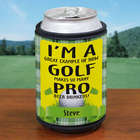 Personalized Pro Beer Drinkers Golf Can Wrap Koozie