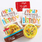 Hip Hip Hooray Birthday Cookie Card with Music