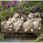 Adorable Naptime Puppies Statue