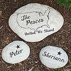 Engraved United Family Garden Stone