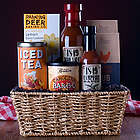 BBQ Gift Basket with Personalized Ribbon