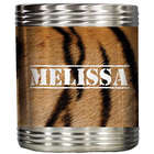 Personalized Tiger Stripe Beer Can Koozie