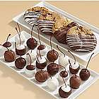 Chocolate Dipped Cookies and Hand-Dipped Cherries