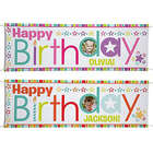 Personalized Stars & Wishes 6' Birthday Photo Banner