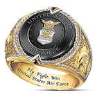 US Air Force Fly, Fight, Win Tribute Ring