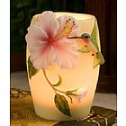 Hummingbird and Hibiscus Night Lamp