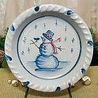 Snowman Pie Plate