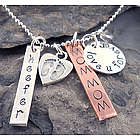 Personalized Love U Forever Hand Stamped Necklace