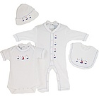 Sailing Away Deluxe Embroidered Layette Set