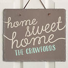 Front Door Greetings Personalized Slate Plaque