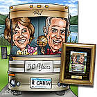 50th Anniversary Fully Custom Caricature Framed Print