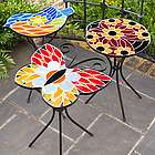Bright Glass Outdoor Side Table