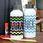 Kid's Chevron Design Water Bottle