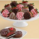 4 Valentine's Oreo Cookies and Dozen Valentine's Strawberries