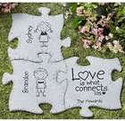 Personalized Connected with Love Puzzle Garden Stone