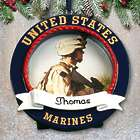 Personalized US Marines Picture Frame Ornament