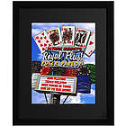 Royal Flush Poker Personalized Wall Art