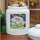 Personalized Ceramic Christmas Cookie Jar