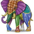 Triumphant Tapestry Elephant Figurine