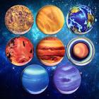8 Melamine Planet Plates