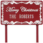 Personalized Merry Christmas Aluminum Lawn Plaque