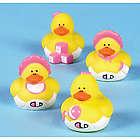 Mini Baby Girl Shower Rubber Duckies