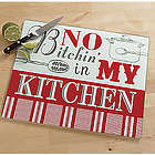 Not in My Kitchen Glass Cutting Board