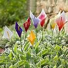 Small Calla Lily Metal Garden Stakes