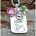 Mom's Jar of Heart Personalized Necklace
