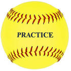 11-Inch Practice Softball in Yellow