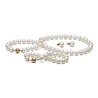 8-9mm AA White Freshwater Pearl Set