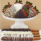 4 Dipped Pretzels and 6 Hand-Dipped Fancy Berries