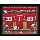 Personalized Wisconsin Badgers Locker Room Print