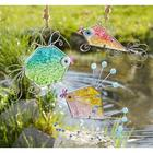 Painted Glass and Wire Fish Sculpture Gift Set